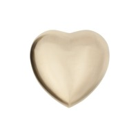 New Puffed Shape- Brushed Brass Keepsake Heart