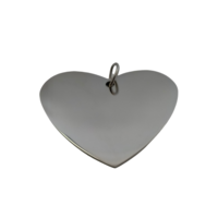 Heart Name Tag Silver